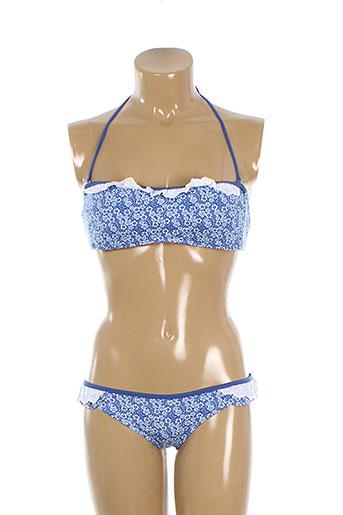 genius maillots de bain femme de couleur bleu