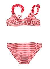 Maillot de bain 2 pièces rose BORABORA pour fille seconde vue