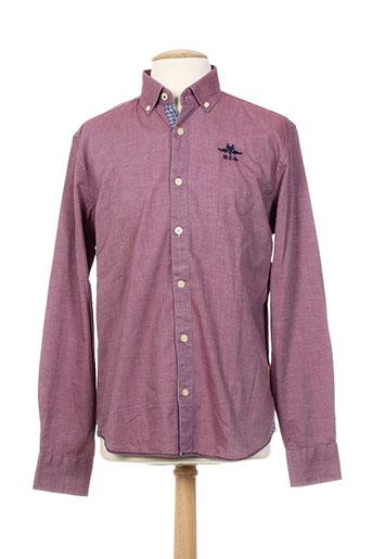 n.z.a new zealand chemises homme de couleur rouge