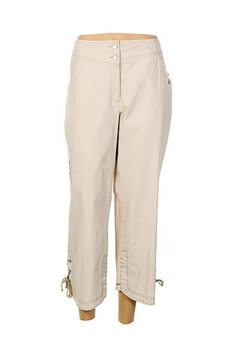 jean gabriel pantacourts femme de couleur beige