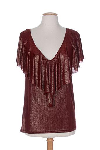 purple's by sh t-shirts femme de couleur rouge