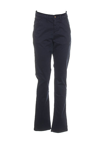 red-tag pantalons femme de couleur bleu