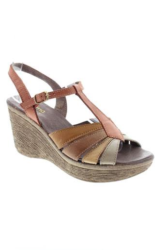 arima sandales et nu et pieds femme de couleur marron
