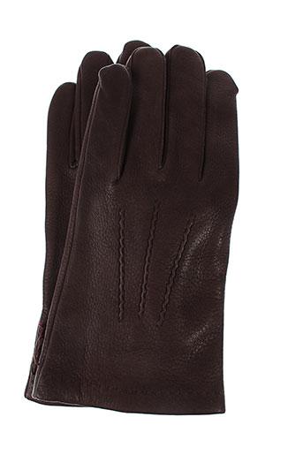 agnelle echarpes et gants homme de couleur marron