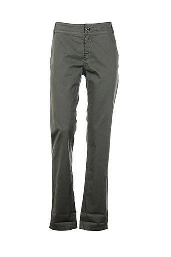 hybris pantalons femme de couleur vert