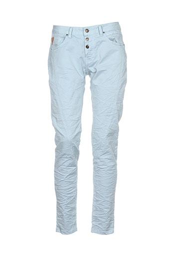 deeluxe pantalons et decontractes femme de couleur bleu