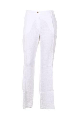 diambre pantalons femme de couleur blanc