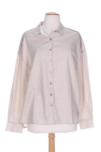 dismero chemises femme de couleur beige