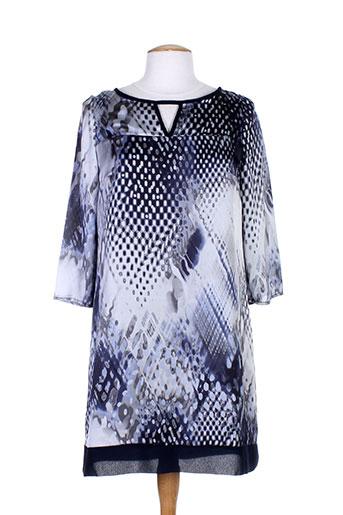 lauren vidal robes femme de couleur bleu