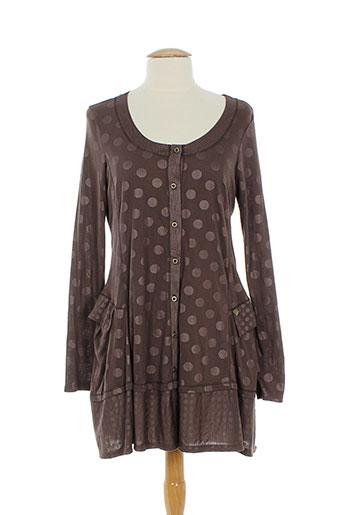 3322 vestes femme de couleur marron (photo)