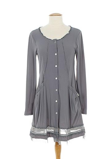 3322 vestes femme de couleur gris (photo)