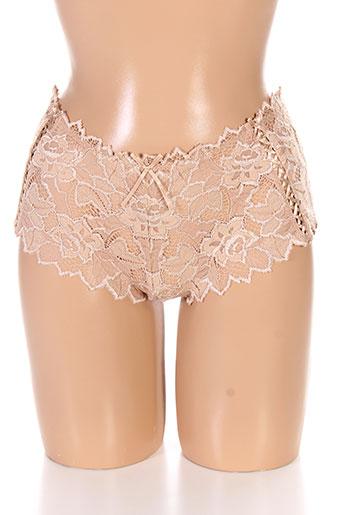 audelle shortys et boxers femme de couleur beige