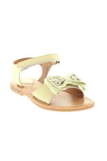 l'atelier tropézien chaussures fille de couleur beige