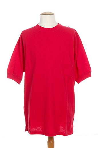 united cotton t-shirts homme de couleur rouge