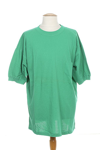 united cotton t-shirts homme de couleur vert