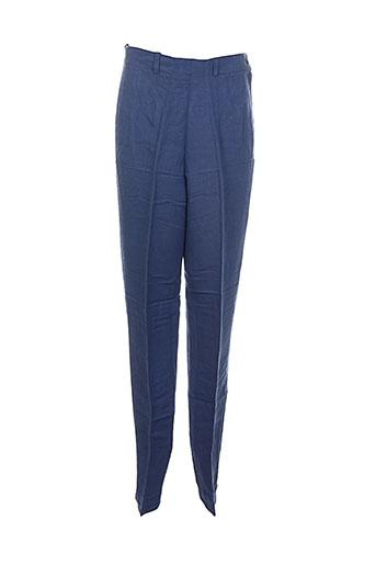 differentiel pantalons femme de couleur bleu