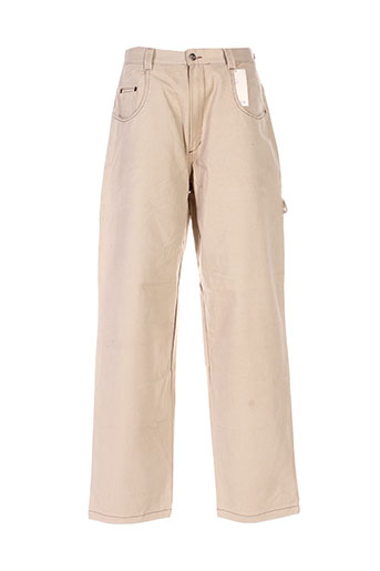 triangle pantalons homme de couleur beige