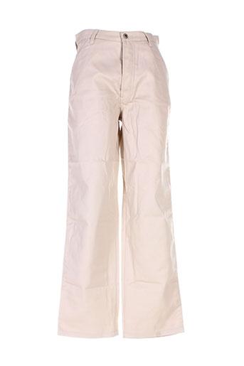 homeboy pantalons homme de couleur beige
