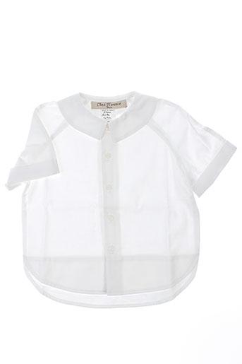 chez florence chemises fille de couleur blanc