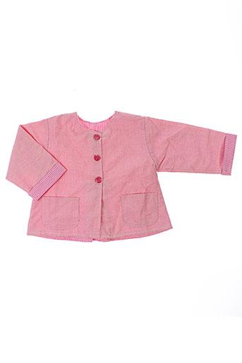 chez florence vestes fille de couleur rose