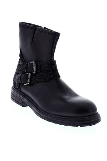 bruno et premi boots femme de couleur noir