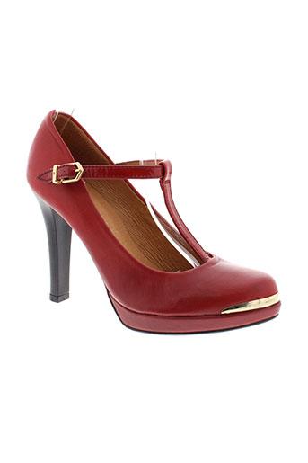 hispanitas escarpins femme de couleur rouge