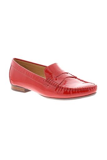 johann mocassins femme de couleur rouge