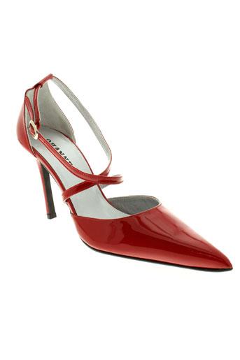 ohannes chaussures femme de couleur rouge