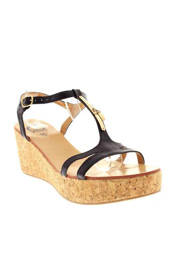 cassis et cote et d et azur sandales et nu et pieds femme de couleur noir