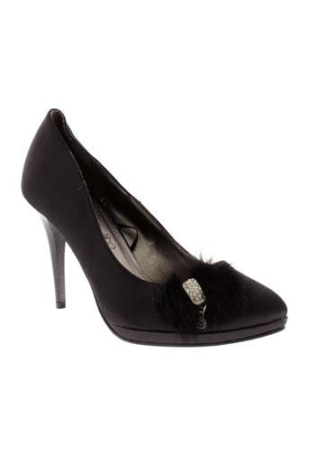 ilario et ferucci escarpins femme de couleur noir
