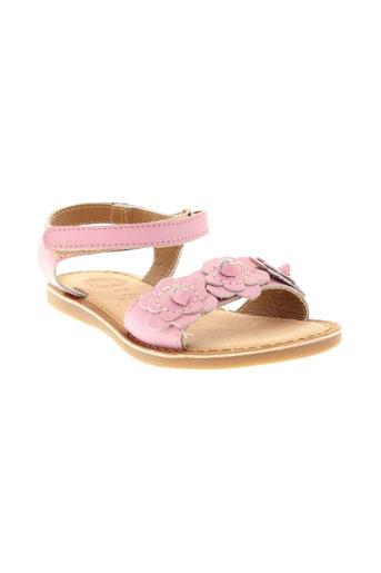 gioseppo sandales et nu et pieds fille de couleur rose