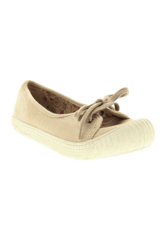 palladium chaussures fille de couleur beige