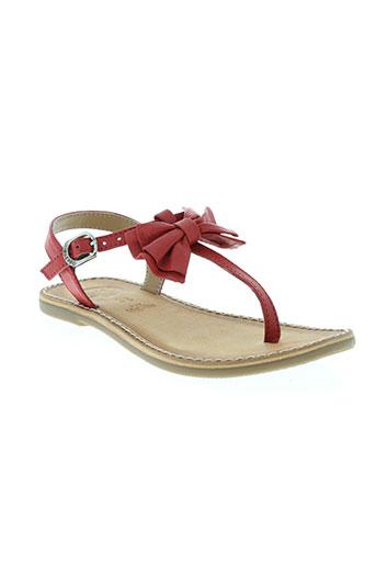 gioseppo sandales et nu et pieds fille de couleur rouge