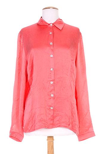 armor lux chemises femme de couleur rouge