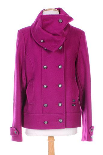 dalmad marine manteaux femme de couleur violet