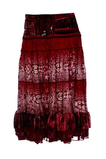 miss v jupes femme de couleur rouge