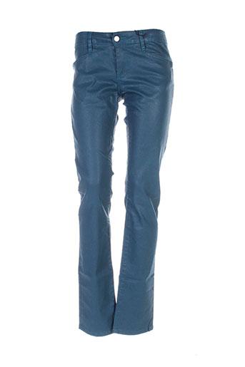 la cible rouge pantalons femme de couleur bleu