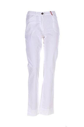 aventures des toiles pantalons femme de couleur blanc