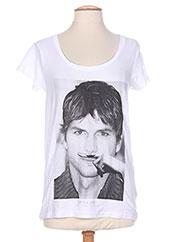 T-shirt manches courtes blanc ELEVEN PARIS pour homme seconde vue