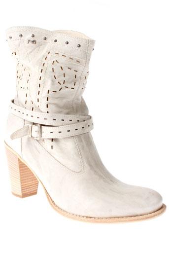 nero et giardini bottines femme de couleur blanc