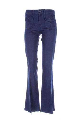 sinequanone pantalons femme de couleur bleu