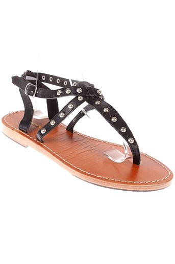 scotch et soda sandales et nu et pieds femme de couleur noir