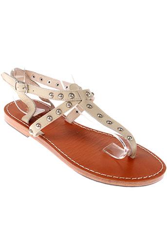 scotch et soda sandales et nu et pieds femme de couleur beige