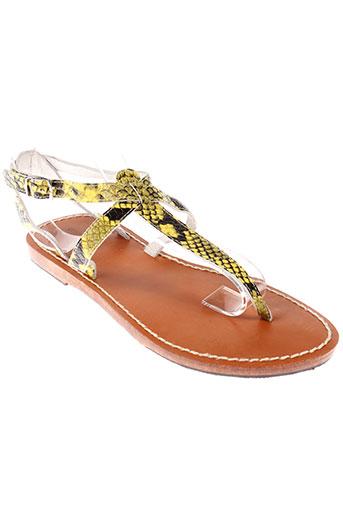 scotch EFFI_CHAR_1 soda chaussures femme de couleur jaune