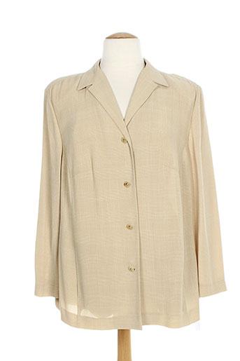 marcona vestes femme de couleur beige