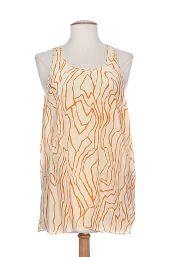 by malene birger chemises femme de couleur orange