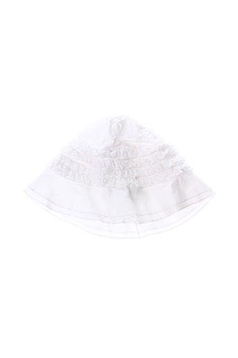 eliane et et et lena chapeaux et bonnets fille de couleur blanc