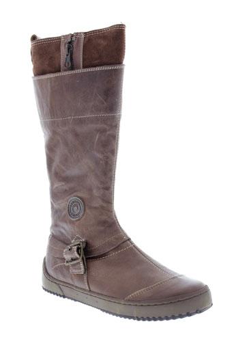 pataugas chaussures fille de couleur marron