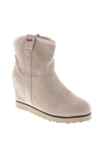 les et p et tites et bombes boots femme de couleur beige