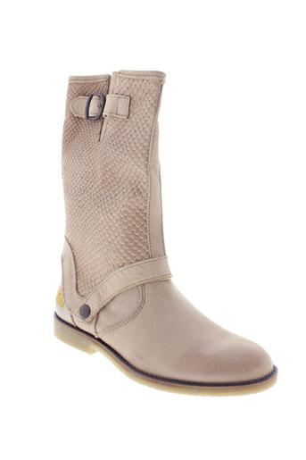 ikks chaussures fille de couleur beige